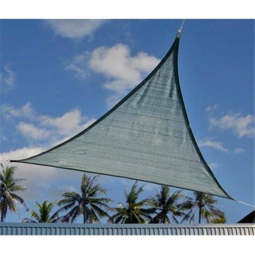 ShelterLogic 25733 12 ft. - 3 7 m Triangle Shade Sail - Sea 230 gsm