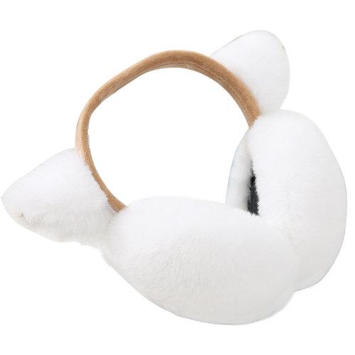 Lovely Earmuffs Plush Earmuff Warm Earmuffs Ear Protection For Kids, White-2