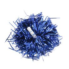 Baton Handle Metallic Foil Pom Poms Cheerleading Poms BLUE(A Dozen)
