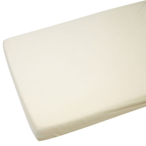 4x Crib Jersey Fitted Sheet 100% Cotton 40 x 90cm Cream