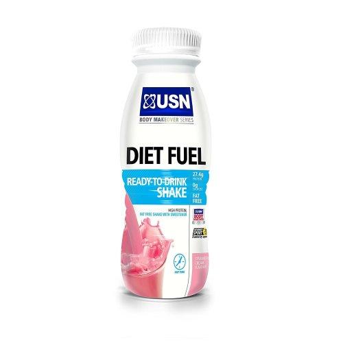 USN Ultralean Diet Fuel Shake, Strawberry- Pack of 8 x 330 ml
