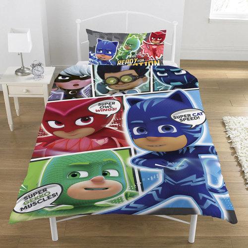 PJ Masks Comic Single Duvet Cover Quilt Cover Set Polycotton