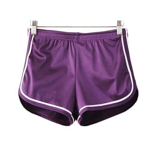 Women's Hot Gym Sport Shorts Shiny Metallic Pants, #A 5
