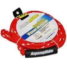 Aquaglide 3 Person Deluxe Tow Rope, Red