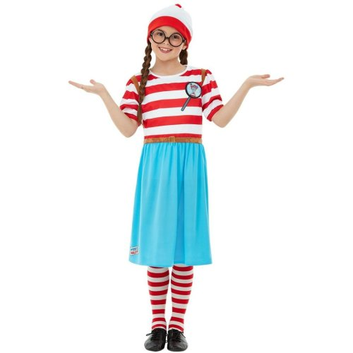 Girls Deluxe Clown Costume /& Hat Circus World Book Week Day Fancy Dress Outfit