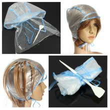 Hair Coloring Highlighting Dye Cap Reusable With Crochet Hook