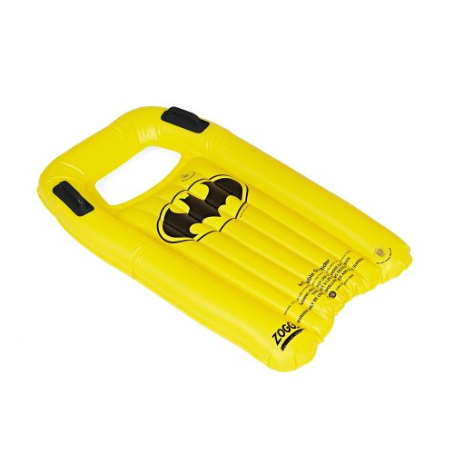Zoggs Kids' Batman Inflatable Body Board/surf Rider, Black/Yellow, 3 Years