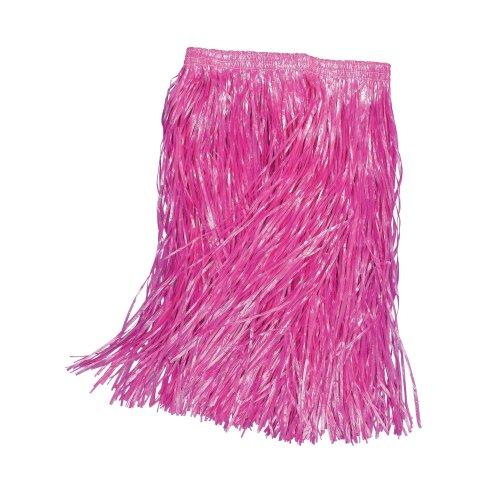 55cm Pink Adults Grass Skirt -  grass skirt fancy hawaiian dress pink adult 55cm beach party PINK NEON GRASS SKIRT FANCY DRESS HAWAIIAN PARTY ADULTS