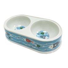 Imitation Ceramic Melamine Dogs/Cats Pet Bowls Dog Bowls Double Bowls-Fish