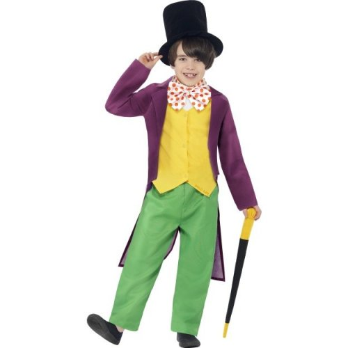 Children's Willy Wonka Costume - Ages 7-9 | Kids' Willy Wonka Fancy Dress