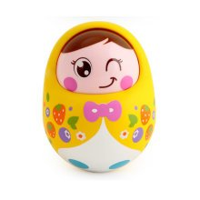 Lovely Nodding Doll Tumbler Push and Pull Toys(yellow)