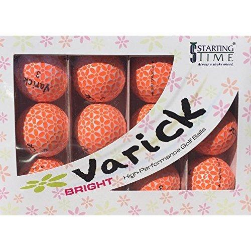 Varick Golf VB B OW Balls One Dozen Orange White