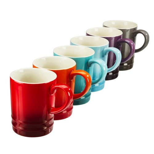 Set of 6 Stoneware Rainbow Tea Mugs Collection of Assorted Colourful Espresso/Coffee Cups 300ml by Cooks Professional on OnBuy  sc 1 st  OnBuy & Set of 6 Stoneware Rainbow Tea Mugs Collection of Assorted ...