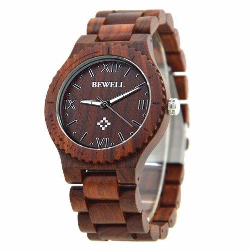 Bewell Men's Lightweight Natural Wooden Watch