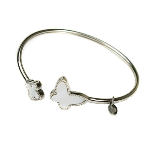 Festina Stainless Steel And Mother Of Pearl Butterfly Bangle