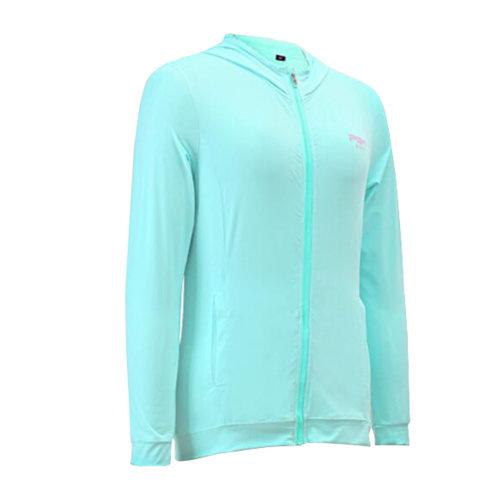 Womens Golf Ice Silk Coat Outdoor Sun Protective Clothing Light Blue