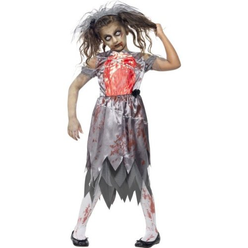 Halloween Costumes For Kids Girls Zombie.Large Girls Zombie Bride Costume Zombie Bride Fancy Dress Costume Halloween Girls Corpse Kids