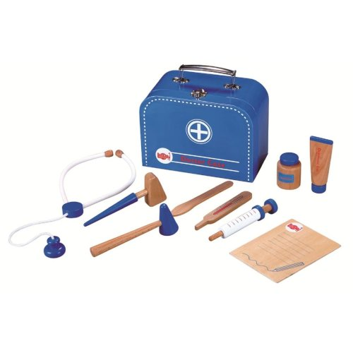 Lelin Wooden Doctors Playset Kit for Children