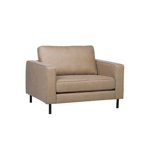 Leather Armchair Beige SAVALEN