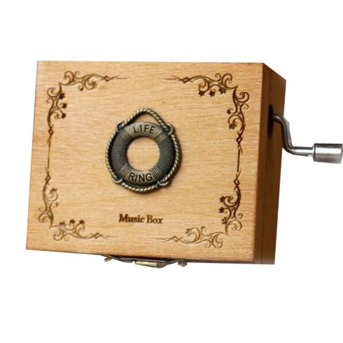 Wooden Music Box Mini Hand Crank Music Box Height Approx 1.3 Inch ?¨Lifebuoy??