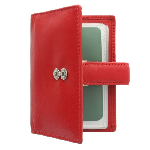 Visconti Leather Credit Card Holder With Tab Closure 484