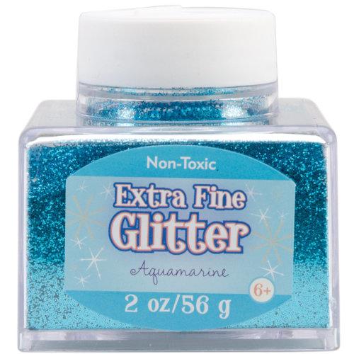 Extra Fine Glitter 2oz-Aquamarine