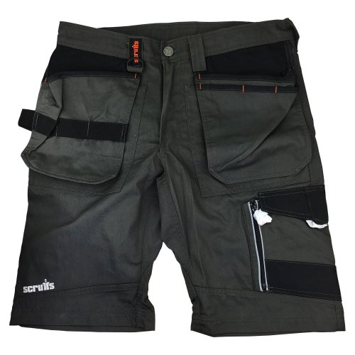 Scruffs Trade Work Shorts Slate Grey