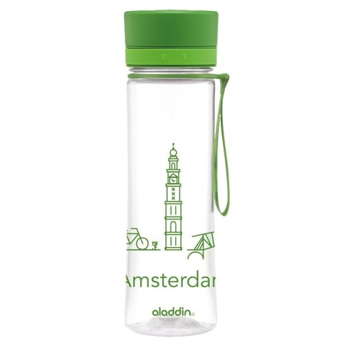 Aladdin Adult City Series Amsterdam 0.6 Litre Aveo Water Bottle – Green, 600 ml