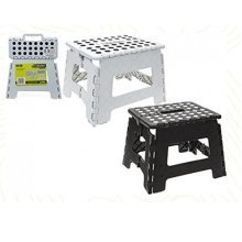 Folding Step Stool Camping Caravan Home Garage (black Or White Available) -  step summit folding camping sturdy stool travelling black white caravan