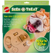 "Seek-A-Treat Flip 'N Flap Puzzle 9""-"