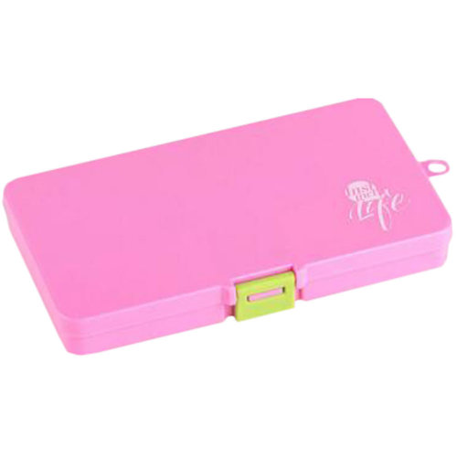 Portable Travel First-Aid Kit Medicine Storage Box Pill Sorter Container Pink