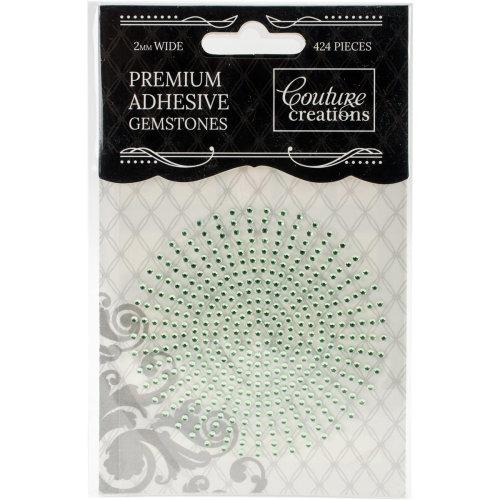 Couture Creations Self-Adhesive Gemstones 2mm 424/Pkg-Celadon
