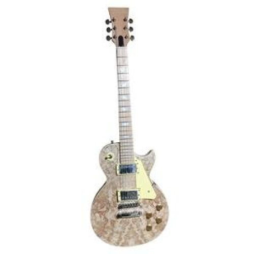 Electric guitar DIY kit, GDLP710MB LP style Solid Mahogany body with Spalted Maple Veneer