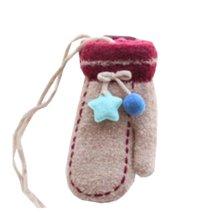 Beautiful Warm Velvet Gloves Children Coffee Winter Thicken Mittens