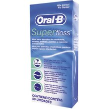 3 X Oral -B Super Floss 50 PRE-CUT STRANDS, Dental Floss