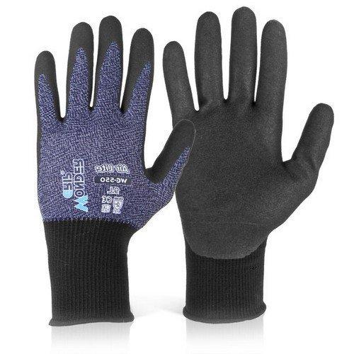 Wondergrip WG550L Air Lite Nitrile Foam Gloves Size 9 Large