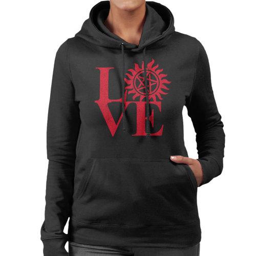 Love Supernatural Pentagram Women's Hooded Sweatshirt