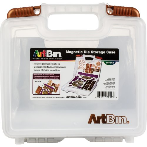 "ArtBin Magnetic Die Storage W/3 Sheets-10.25""X3.25""X9.625"" Translucent"