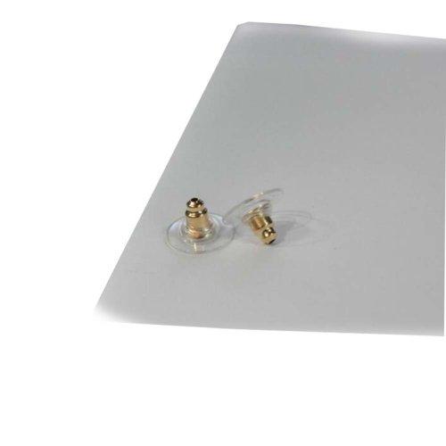 60 Pcs Bullet Clutch Earring Backs with Safety Earring Backs