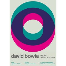 "David Bowie and the Spiders From Mars @ Cleveland, 1972 14"" x 10"" Gig Poster"