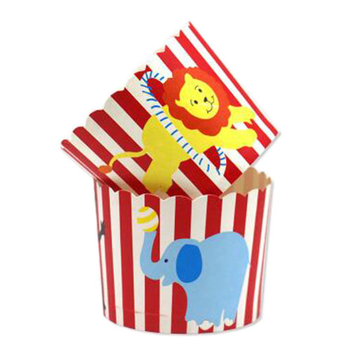 100PCS Lovely Paper Baking Cups Cake Cup Cupcakes Cases, Animal Pattern