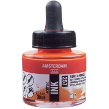 Amsterdam Acrylic Ink 30ml-Reflex Orange