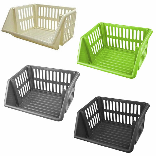 Large Stackable Storage Basket Kitchen Fruit Vegetable Stacking Container Box