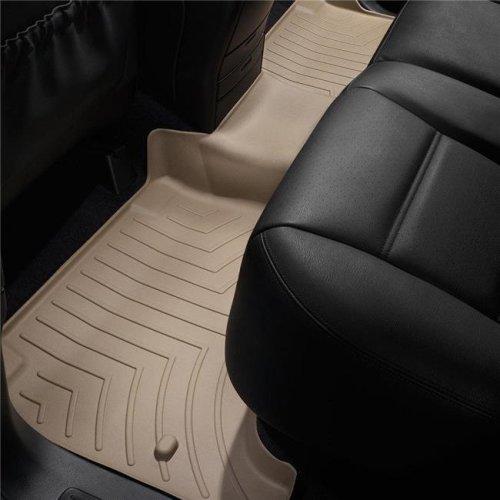 Black WeatherTech Custom Fit Rear FloorLiner for Hyundai Santa Fe