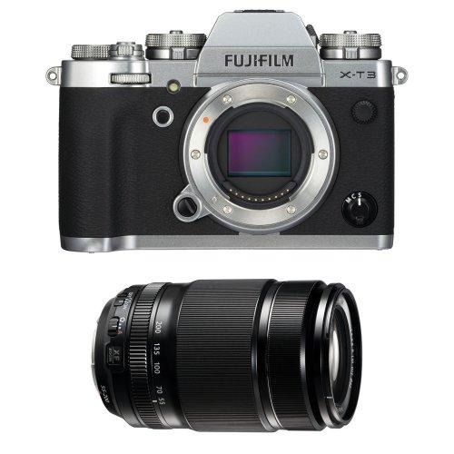 FUJI X-T3 Silver + XF 55-200MM F3.5-4.8 R LM OIS Black
