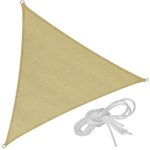 Sun shade sail triangular 500 x 500 x 500 cm