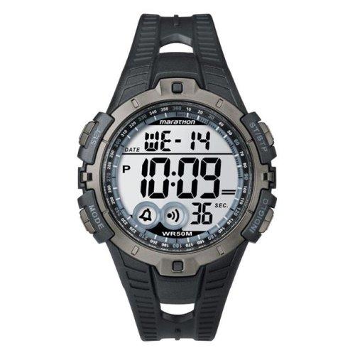 Timex 6518039 Marathon Sports Watch Men Round Digital Resin Water Resistant - Black