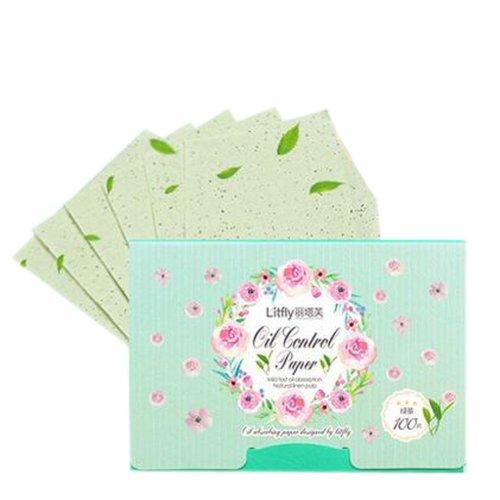 2 Pcs Green Tea Extract Oil Control Blotting Paper Absorbing Tissues