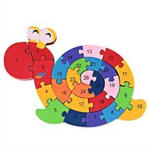 Puzzle Wooden Blocks Toys For Toddlers Childrens Gift Of Ages 2-7(Snail)