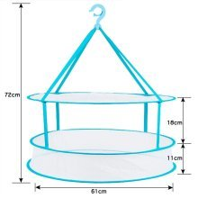 Services for You 2 Tier Sweater Drying Rack Hang Clothes Rack Drying 24''